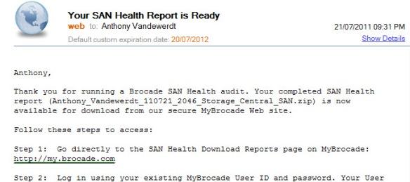 Brocade SAN Health – it rocks!   Aussie Storage Blog